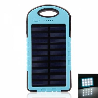 Solar Portable Charger 8000mAh Outdoor Triple-Proof LED for Smartphones Tablets eBook readers mp3 mp4 players GPS